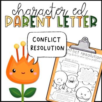 Conflict Resolution Parent Letter