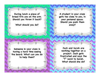 Conflict Resolution Task Cards Grades 4-6