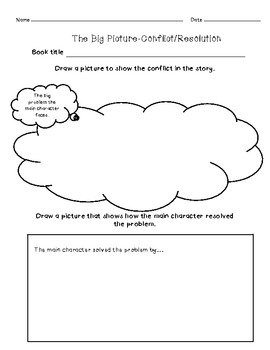 Conflict and Resolution Tiered practice Worksheets