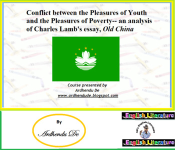 Conflict between the Pleasures of Youth and  Poverty-  Cha