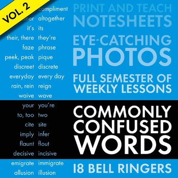 Confused Words/Misused Words #2, Bell-Ringer Slides and No
