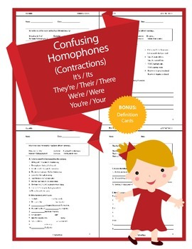 Confusing Homophones (Contractions) - It's, They're, We're
