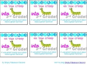 """Congrats As You """"Creep"""" Into Third Grade!"""