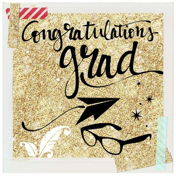 """Congrats Grad"" - Graphic file for blog, newsletter, yearb"