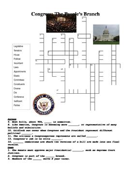 Congress Crossword Puzzle