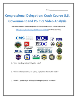 Congressional Delegation: Crash Course U.S. Government and