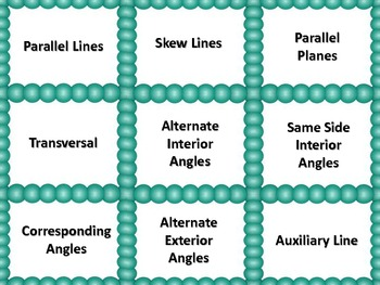Congruence, Parallel and Perpendicular Lines Matching