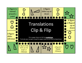Congruence and Transformations Clip and Flip boards (self
