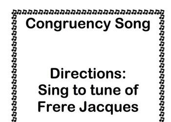 Congruency Song Geometry