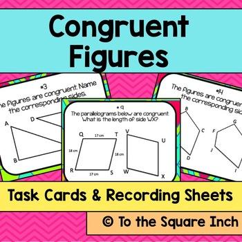 Congruent Figures Task Cards
