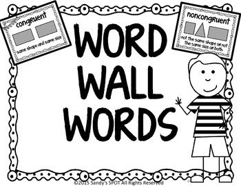 Congruent Noncongruent MiniPosters for Word Walls and Flas