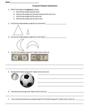 Congruent Shape Mastery Quiz