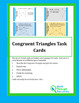 Congruent Triangle Task Cards