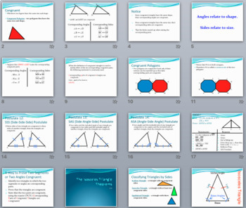 Congruent Triangles - PowerPoint, Notes, Proofs, and Pract