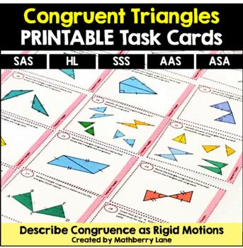 Congruent Triangles Task Cards includes Congruence as Rigi