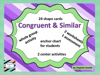 Congruent and Similar Shapes Mini-Unit