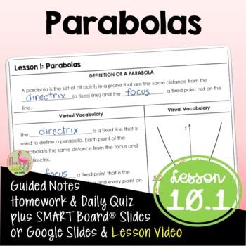 Algebra 2: Parabolas