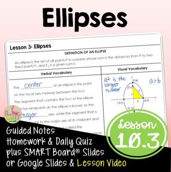 Algebra 2: Ellipses