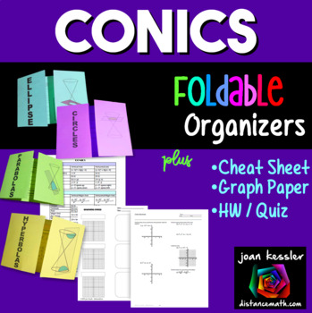 PreCalculus Conics Cheat Sheet   Reference Sheet plus Fold