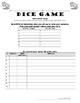 Conjugating Reflexive Verbs Practice in Spanish, Dice Game