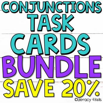 Conjunctions Task Cards $$$ Savings BUNDLE for Grades 3-5