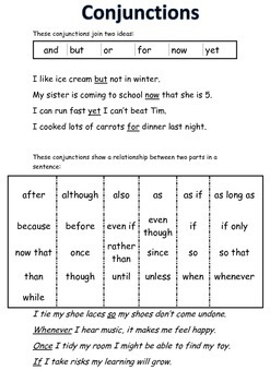 Conjunctions Mini Poster