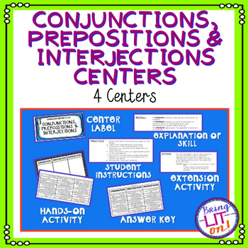 Conjunctions, Prepositions, and Interjections Language Centers