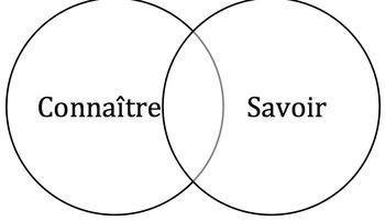 Connaître vs Savoir Venn Diagram Activity