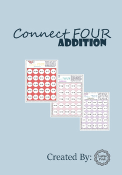 Connect 4 Addition Game - Adding to 20