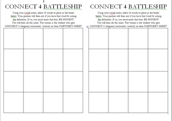 Connect 4 Battleship Review Game