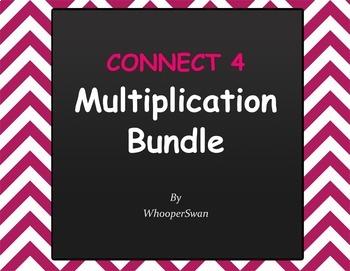 Connect 4 Game - Multiplication Bundle