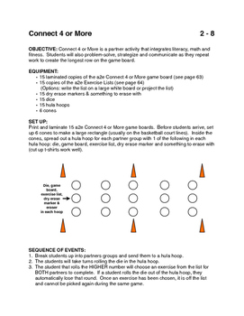 Connect 4 or More game for PE