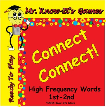 Connect! Connect! Game (Sight Words/High Frequency Words)
