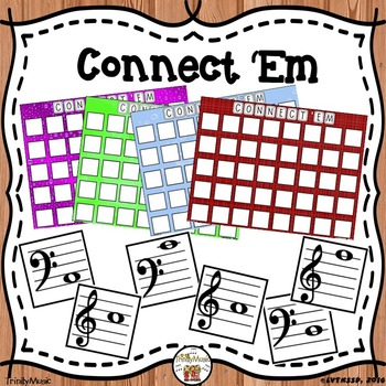 Connect 'Em (Treble and Bass Clef Review Game)