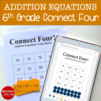 Connect Four: Addition Equations