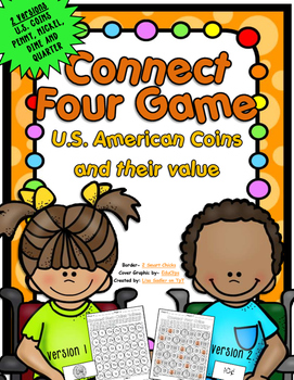 U.S. Coins and Their Values - Connect Four in a Row Game