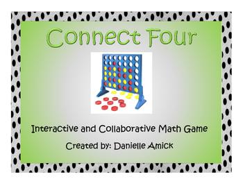 Connect Four Interactive Math Game - Division - 5.NBT.B.6