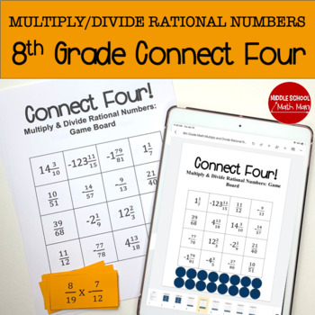 Connect Four: Multiply and Divide Rational Numbers - 8th G