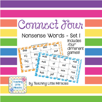 Connect Four Nonsense Words Set 1