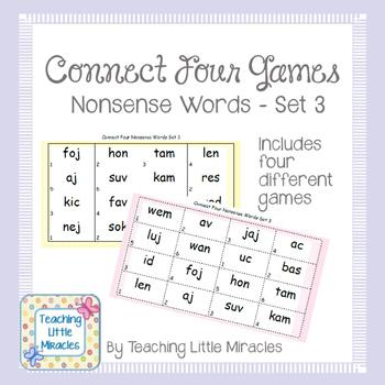 Connect Four Nonsense Words Set 3