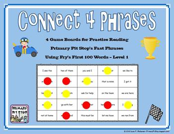 "4 ""Connect Four Phrases"" Game Boards for Fry's FIRST 100 S"