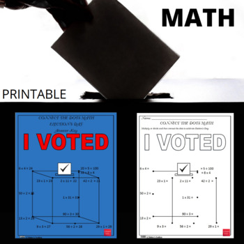 Connect the Dots Math - Election's Day