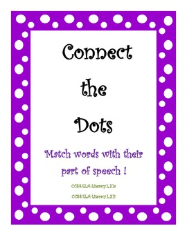 Connect the Dots - Parts of Speech