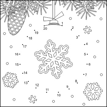 Connect the Dots and Coloring Page with Ornament, Commerci