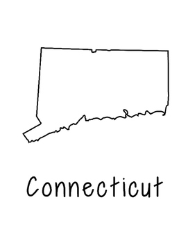 Connecticut Map Coloring Page Activity - Lots of Room for