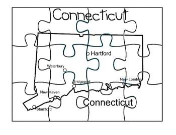 Connecticut Puzzle Map