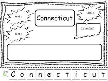 Connecticut Read it, Build it, Color it Learn the States p