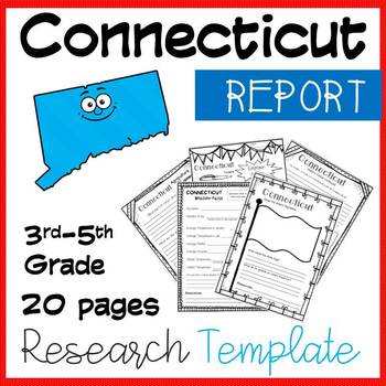 Connecticut State Research Report Project Template with ti