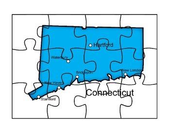 Connecticut puzzle map activity