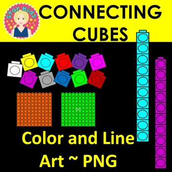 Connecting Cubes Clipart - COMMERCIAL USE OK